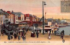 CPA 76200 DIEPPE Train vapeur Rapide de Paris arrivée de la Male Anglaise 1918