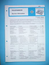 Service Manual-Anleitung für Telefunken MC 2100  ,ORIGINAL