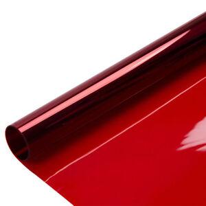 """RED NON REFLECTIVE 15""""x 2' PROLINE WINDOW FILM COLOR GRAPHICS TINT POLARIZADO"""