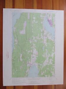 Poulsbo Washington 1975 Original Vintage USGS Topo Map