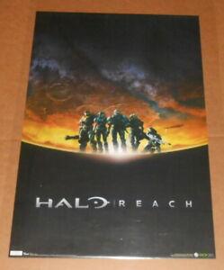 Halo Reach Action Poster 34x22 Xbox 360 RARE