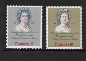 1973 Canada - Royal Visit and Commonwealth Meeting - Complete Set - MNH..