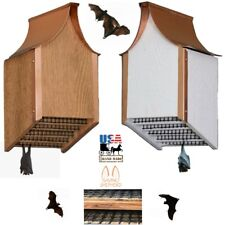 Copper Roof Bat House - Amish Backyard Mosquito Control White & Cedar Finish Usa