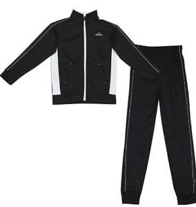 Spalding Boy's Two Piece Sweatsuit Size Medium 10/12 Black & White NWT