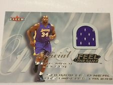 2000-01 Fleer Feel the Game Shaquille O'Neal Game Worn Jersey Card - Lakers