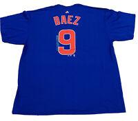 Chicago Cubs Men's Majestic Baez Tee MLB Authentic NWT Size 2XL Royal Blue Sale