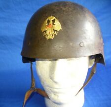 WW2 SPANISH CIVIL WAR HELMET EAGLE BADGE CASCO SIN ALA TRUBIA ARSENAL STEEL WWII