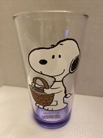 Peanuts Snoopy 16 oz Drinking Glass New