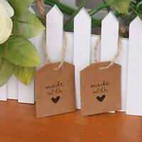 100 PCS Retro Kraft Paper Gift Tags Wedding Label Blank Luggage Paper Hang Tags