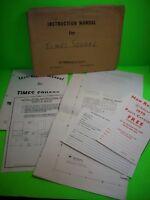 Williams TIMES SQUARE Original Shuffle Arcade Game Schematic + Manual + Extras