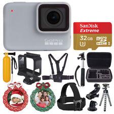 Cámara Digital GoPro Hero 7 (Blanco) Impermeabl de acción + Tarjeta 32GB-Kit de vacaciones