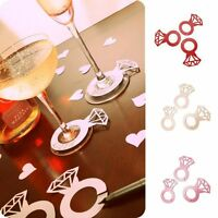 Diamond Rings Glass Markers Wine Cup Card Name Tags Glass Markers Wine Tags
