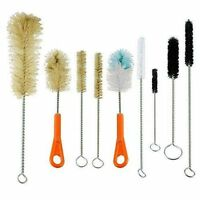 Ultimate Kitchen,Lab,Tube Glass & Baby Bottle Brush Cleaning Set of 9 brushes