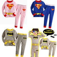 Cartoon Kids Toddler Baby Boys Pyjamas Pajamas 2Pcs Set Sleepwear Clothes 2T-7