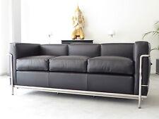 Cassina Le Corbusier LC 2 3-Sitzer,Leder schwarz, Chrom, Top, inkl.19% MwSt.!