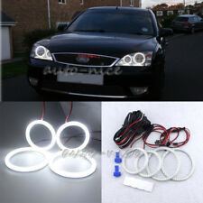 White LED Angel Eyes Halo Rings Kit for Ford Mondeo MK III 02-07 90mmx2,115mmx2