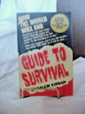 GUIDE TO SURVIVAL  BOOK  BY SALEM KIRBAN   SOFT COVER  1970