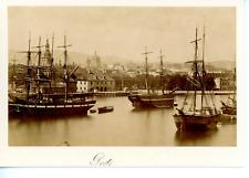 Norvège, Oslo, Port  Vintage albumen print.  Tirage albuminé  10x14  Circa