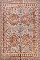 9x10 Vegetable Dye Khotan Oriental Geometric Area Rug Hand-knotted Living Room