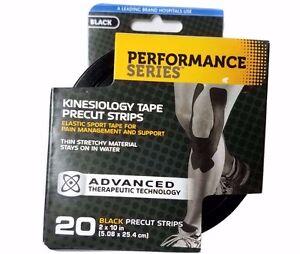 Lot of 10 CURAD Kinesiology Sport Tape Precut Strips Perform Series Pain Mngmnt