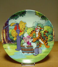 Bradford Exchange Plate -Trouble with Bubbles - Fun in 100 Acre Woods Collection