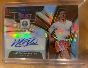 2020 Euro Select Marco Van Basten Silver Prizm Historical Signatures Netherlands