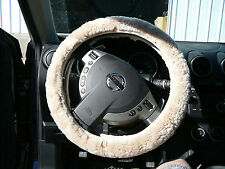 Sheepskin Steering Wheel Cover Covers - Pearl