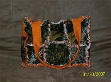 Mossy Oak Break up Camo Orange Hunting Rag Quilt Diaper Bag Tote Purse