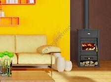 Poêle à bois 18 KW arrière chaudière brûleur foyer chauffage au Bois PRITY fonte