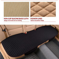 Black Linen Rear Seat Covers Cushion Pad Anti-Slip Breathable For Car SUV Pic-up