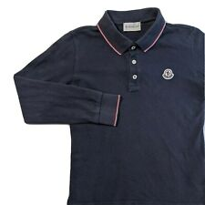 Moncler Long sleeve Polo Shirt Kids Size 128 8 Years Blue Collared