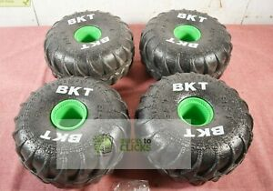 """Monster Jam Mega Grave Digger 1:6 Scale Wheels Qty x4 (Wheels Only) Approx 9"""""""