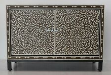 Handmade Bone Inlay floral Brown Sideboard Buffet