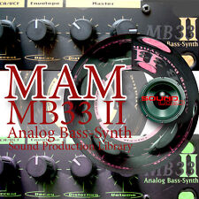MAM MB33II ANALOG BASS - Perfect Original WAVE Studio Samples Library on CD