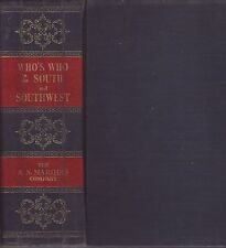 Who's Who in the South and Southwest 1950 Hardcover