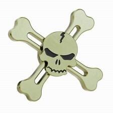 "Special ""Skull"" Green EDC Fidget Hand Spinner Torqbar ADHD Autism Finger Toy"