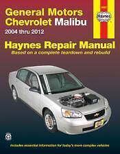 Malibu Haynes Repair Manual covering 2004 thru 2012  #38027