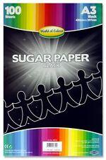 Papel De Azúcar A3 Negro Pack (100 Hojas)