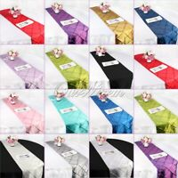 Taffeta Pintuck Table Runners Modern Wedding Tablecloth Home Event Party Decor