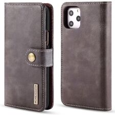 iPhone 11 & Pro Max Genuine Leather Wallet Case+Magnetic Removable Phone Cover