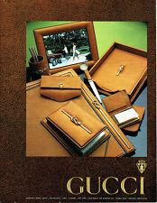 Publicité Advertising 097  1979  Boutique Gucci maroquinerie  portefeuille