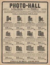 Y9193 PHOTO-HALL - Apparecchi fotografici - Pubblicità - 1921 Old advertising
