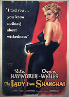 Reproduction The Lady From Shanghai Movie Poster, Vintage Print, Film Noir