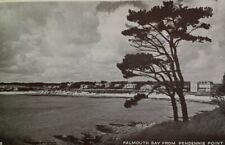 Falmouth UK Postcard Mid 1900s Rare Pendennis Point Bay Beach Cornwall Stamp