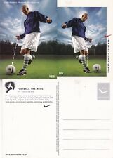 NIKE FOOTBALL TRAINING #9 SHOOTING UNUSED ADVERTISING COLOUR POSTCARD (b)