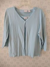 CC Hughes XL Shirt Blouse Top 2 Piece Twin Set 3/4 Sleeve Career Blue Knit B3
