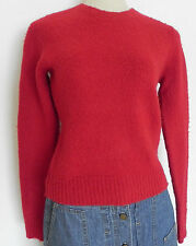 Ralph Lauren Rugby sweater Slim fit 100% Wool Red Long sleeve Size S(fits XS/S)