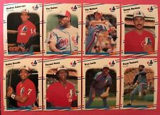 1988 Fleer Expos 3 complete team sets Gem Mint razor sharp