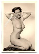 #863 ROESSLER AKTFOTO / NUDE WOMAN STUDY * Vintage 1950s Studio Photo - no PC !
