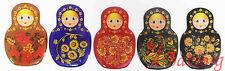 Russian Nesting dolls Matryoshka Babushka Fridge magnets. set of 5. Great gift